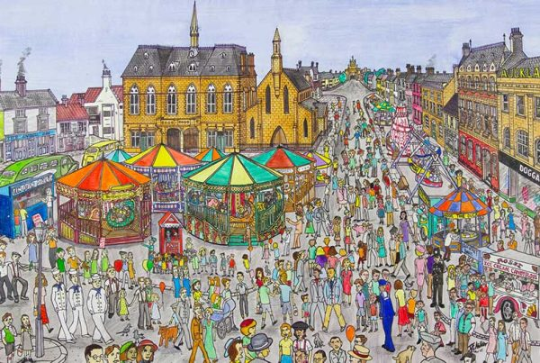 JG Miller - Away to the Shows - Bishop Auckland Market Place